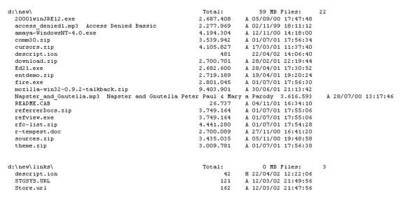 STG FolderPrint Plus, Files and Folders Software Screenshot