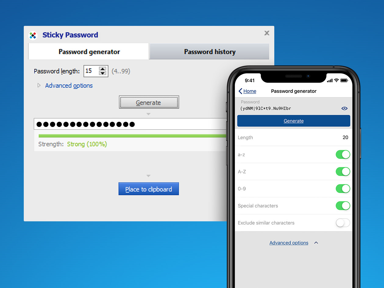 Sticky Password Premium, Access Restriction Software Screenshot