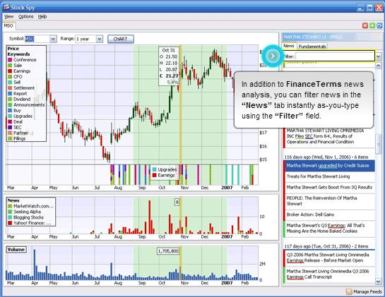 StockSpy, Portfolio Management Software Screenshot