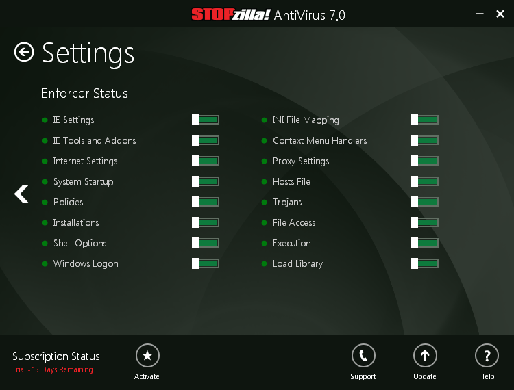 Antivirus Software, STOPzilla AVM Screenshot