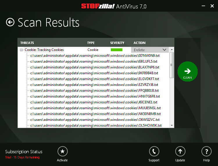 STOPzilla AVM, Antivirus Software Screenshot