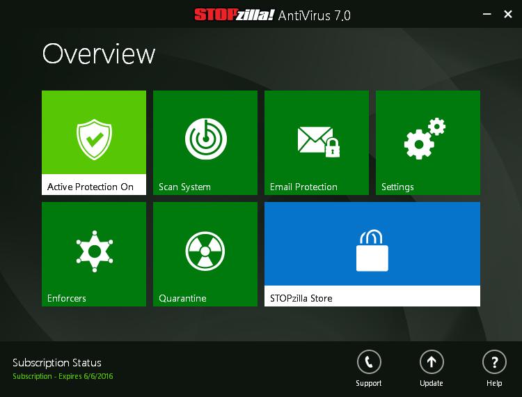 STOPzilla AVM Screenshot
