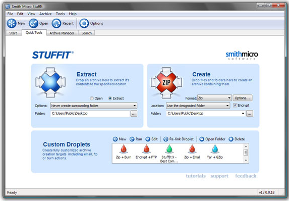 Compression and Extraction Software, StuffIt Deluxe Screenshot
