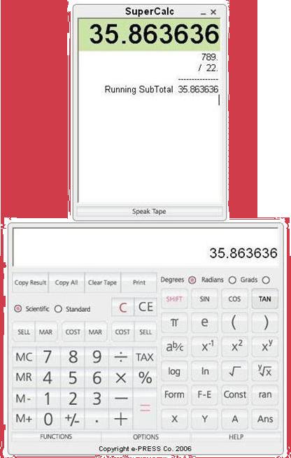 SuperCalc Screenshot