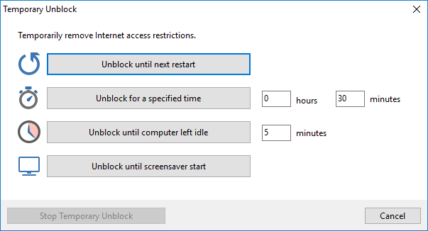 Surfblocker, Security Software Screenshot