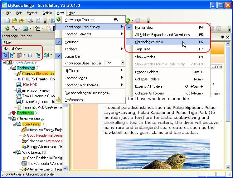 Internet Software, Surfulater Screenshot