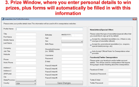 Sweepstakes Ninja MILLIONAIRES! Bundle Package, Lifestyle Software Screenshot