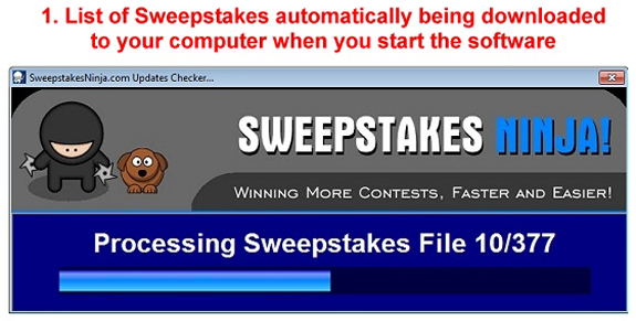 Sweepstakes Ninja MILLIONAIRES! Bundle Package Screenshot