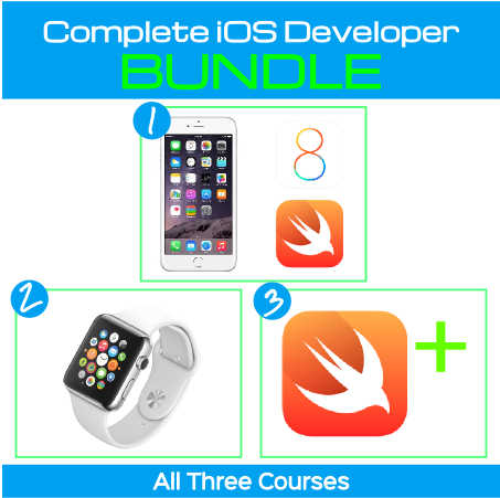 Swift, iPhone & Apple Watch 3 Course Bundle Go From Newbie to