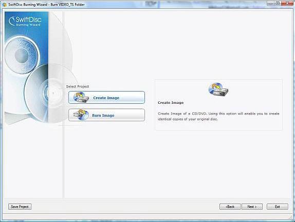 SwiftDisc Burning Wizard Premium, Video Software Screenshot