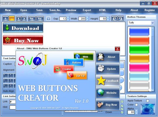 HTML Widget Software Screenshot