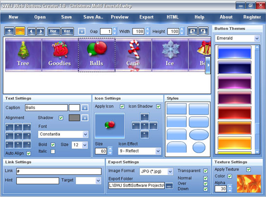 SWiJ Web Buttons Creator Screenshot