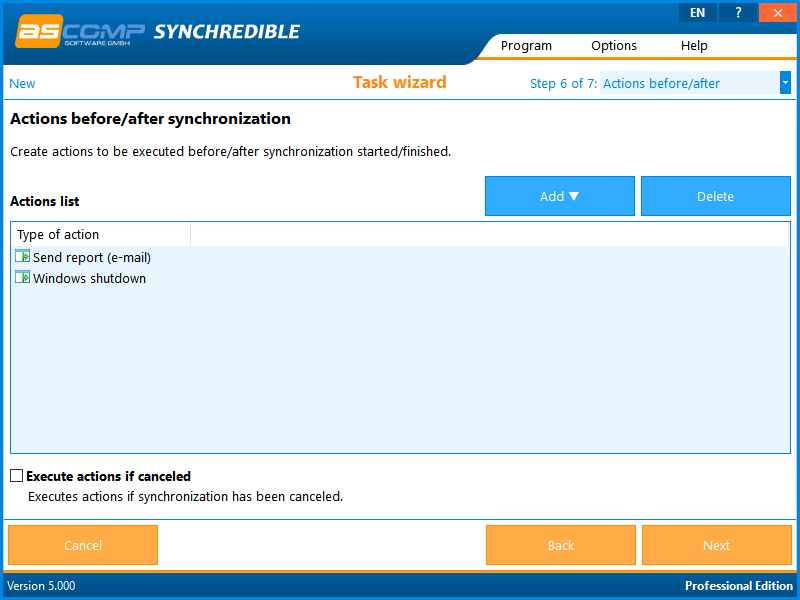 Software Utilities, Synchredible Screenshot