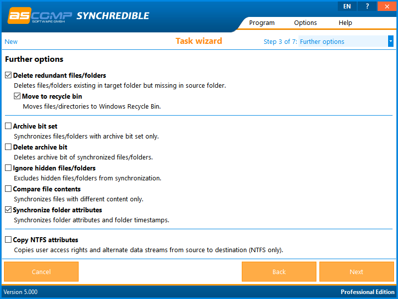 Synchredible, Software Utilities Screenshot