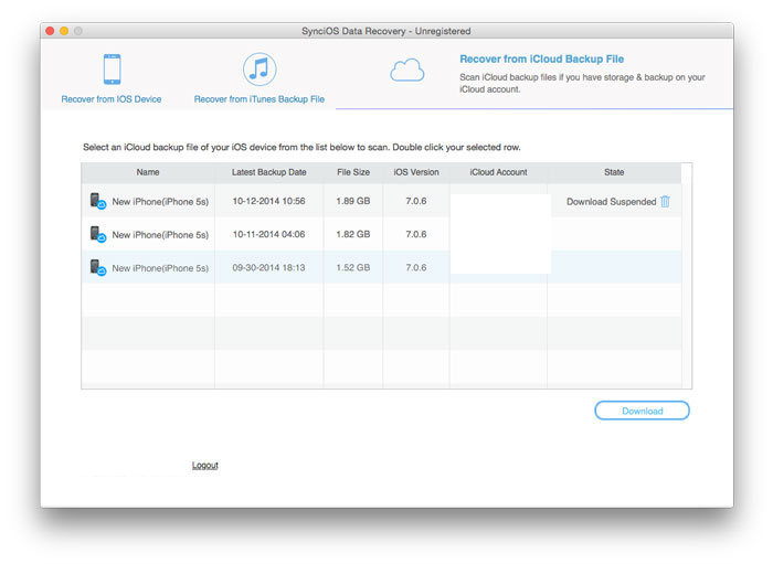 SynciOS Data Recovery for Mac - Recovery Software for Mac