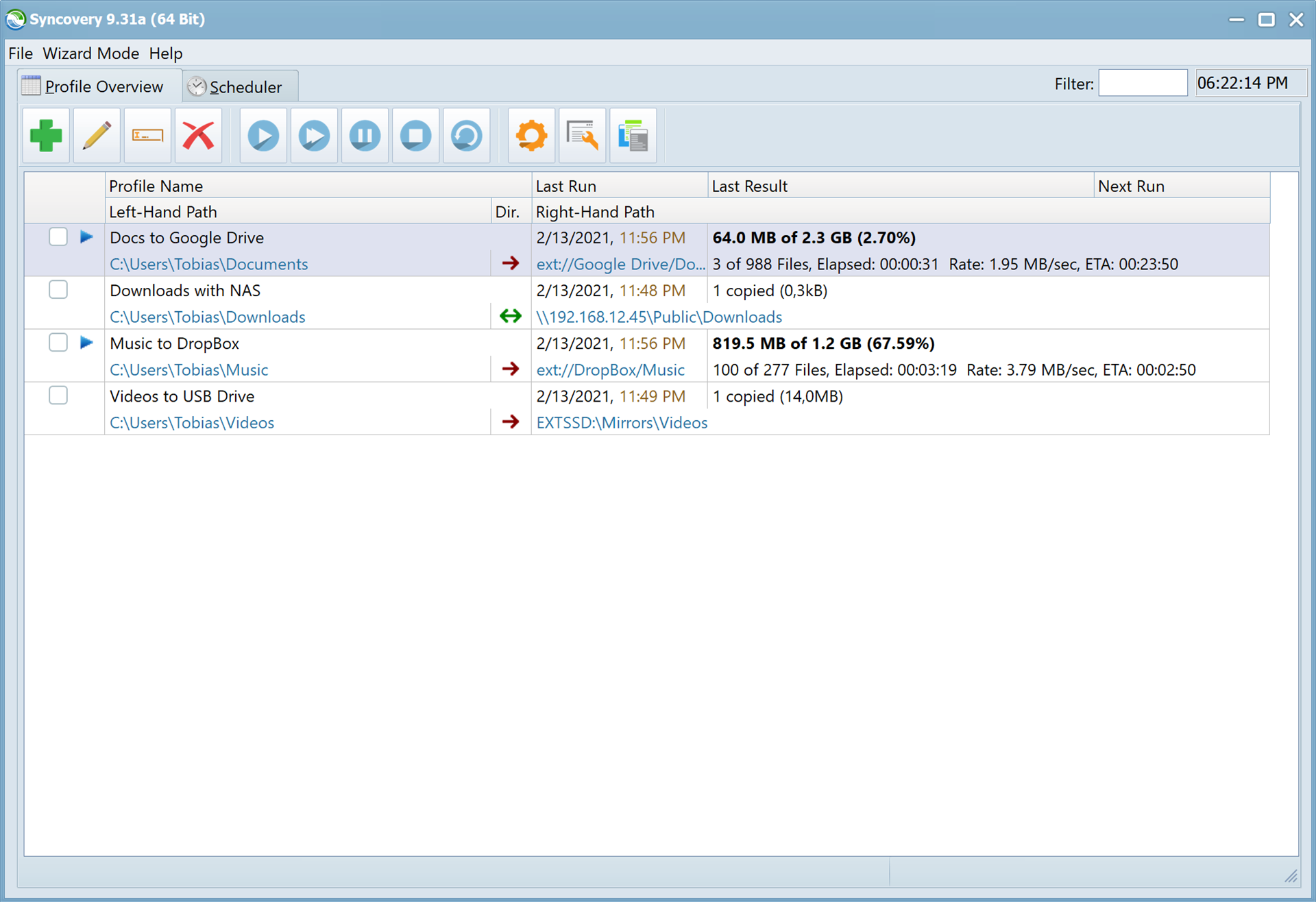 Syncovery Pro Screenshot