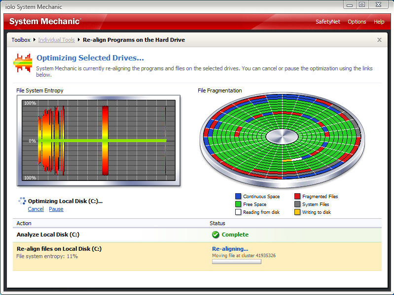 System Mechanic, Software Utilities Screenshot