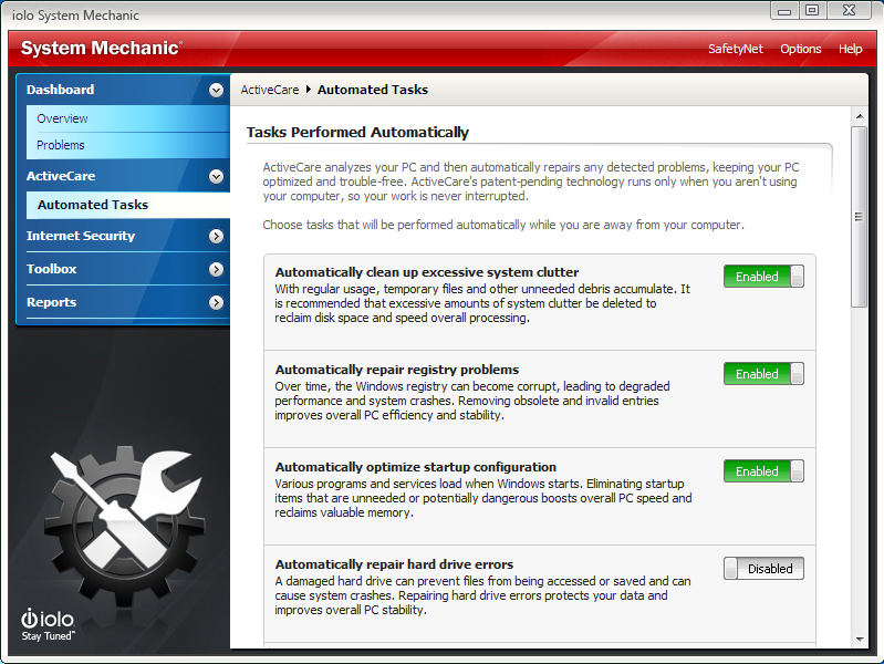 Software Utilities, System Mechanic Screenshot