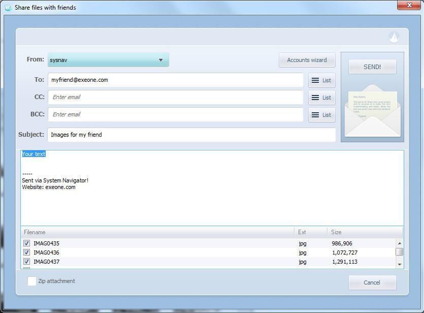 File Management Software, System Navigator 2014 Screenshot