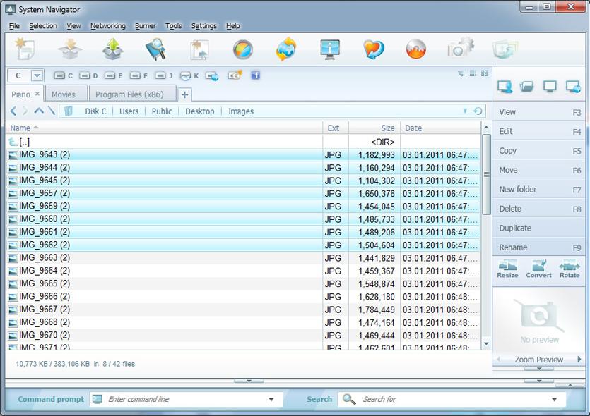 System Navigator 2014, Software Utilities, File Management Software Screenshot