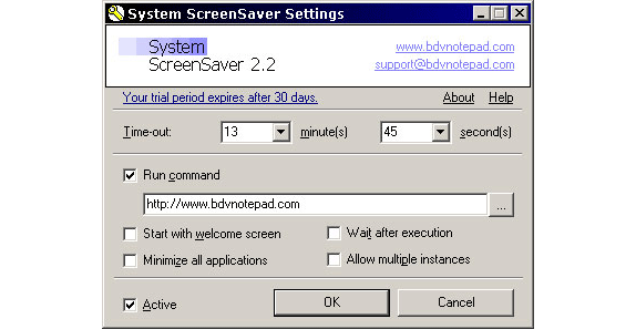 System ScreenSaver Screenshot
