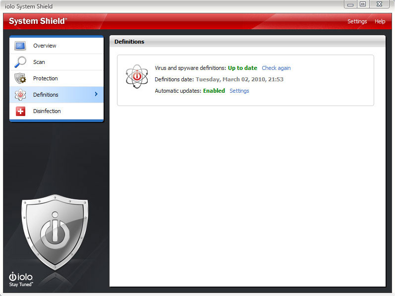 System Shield AntiVirus & AntiSpyware, Antivirus Software Screenshot