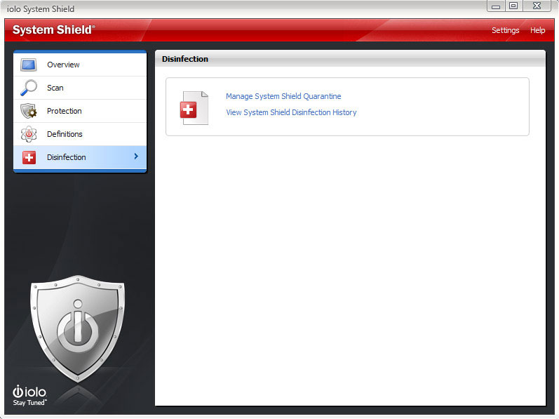 Antivirus Software, System Shield AntiVirus & AntiSpyware Screenshot