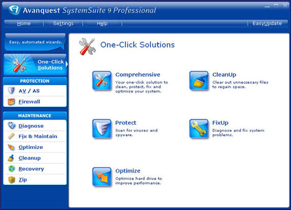 System Suite 9 Screenshot