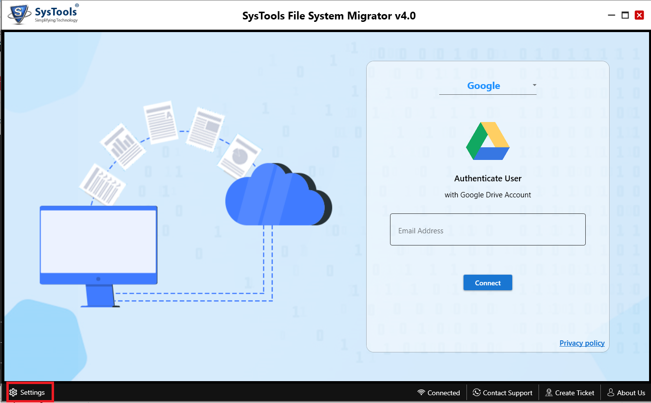 SysTools File System Migrator Screenshot