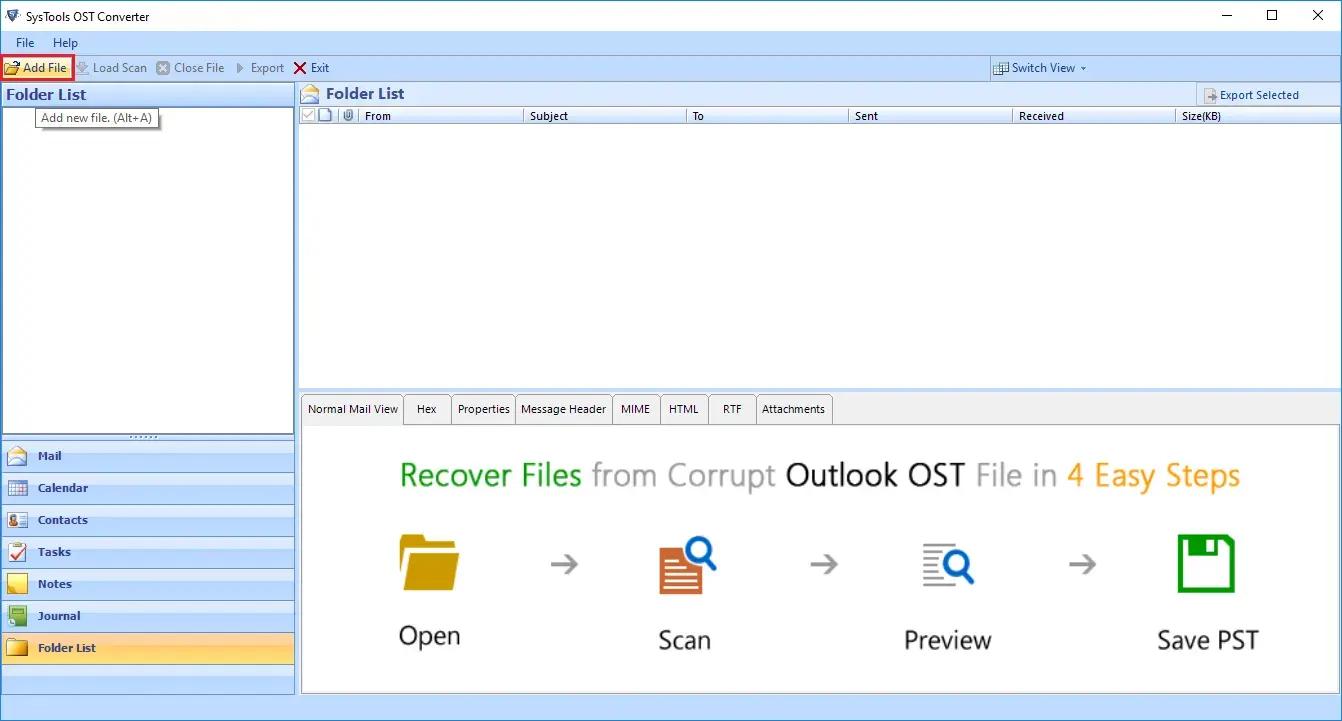 SysTools OST Converter Screenshot