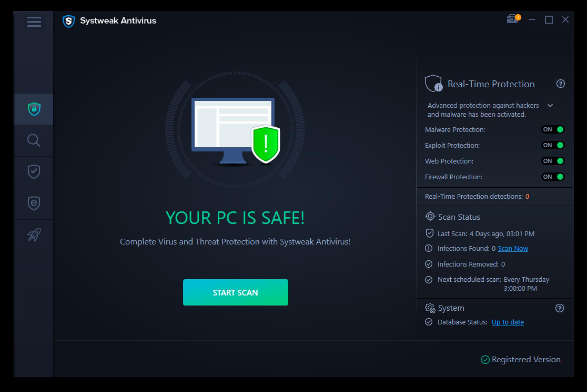Systweak Antivirus Screenshot