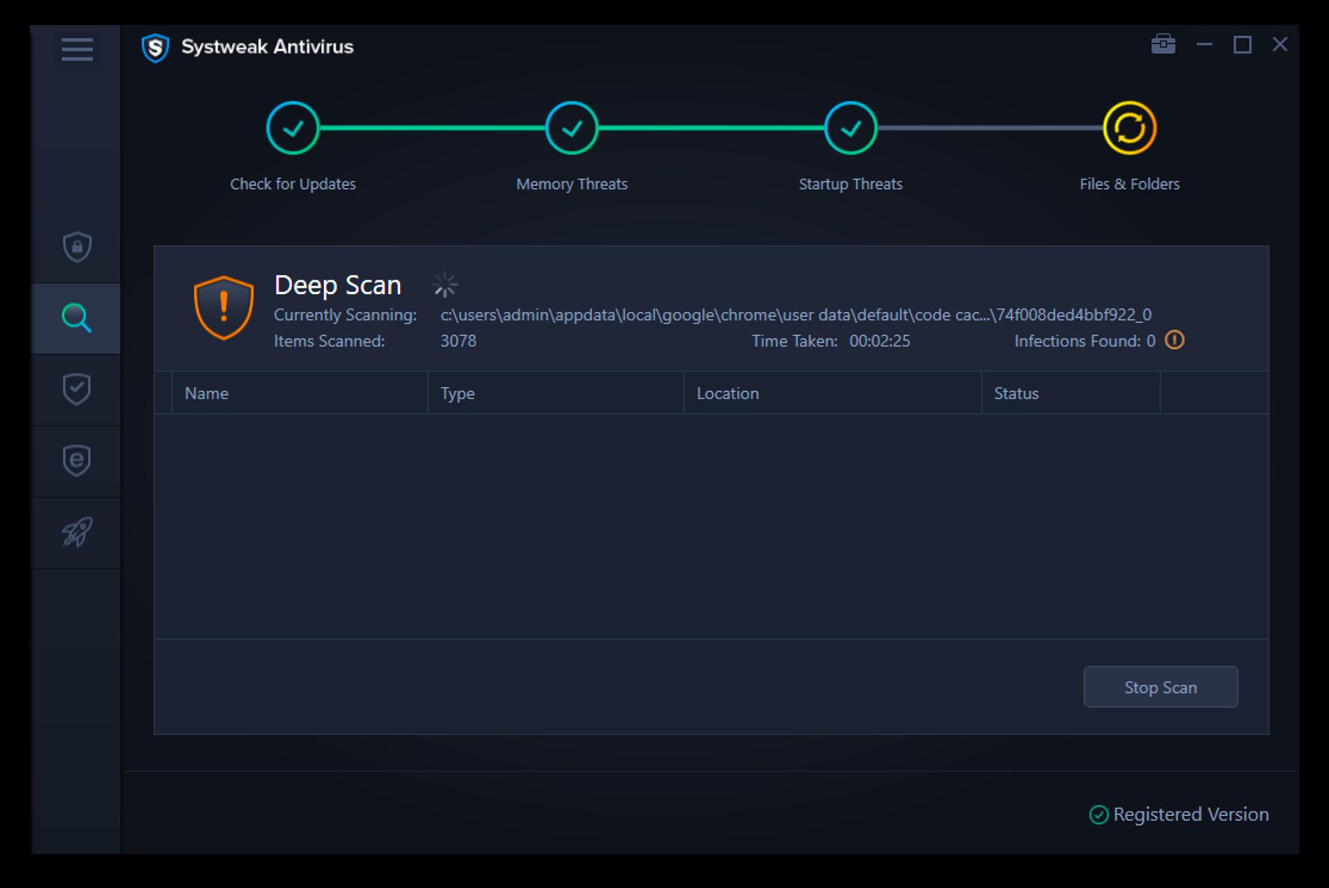 Antivirus Software Screenshot