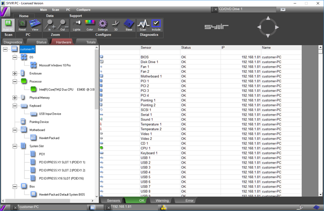 SyvirPC 3, System Inventory Software Screenshot