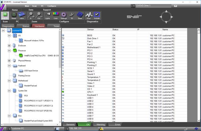 SyvirPC 3, System Inventory Software Screenshot