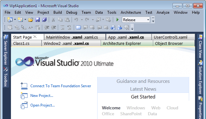 Tabs Studio, Development Software Screenshot