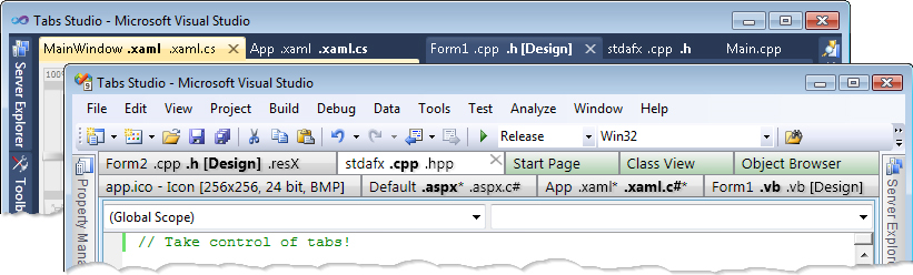 Tabs Studio, Development Tools Software Screenshot