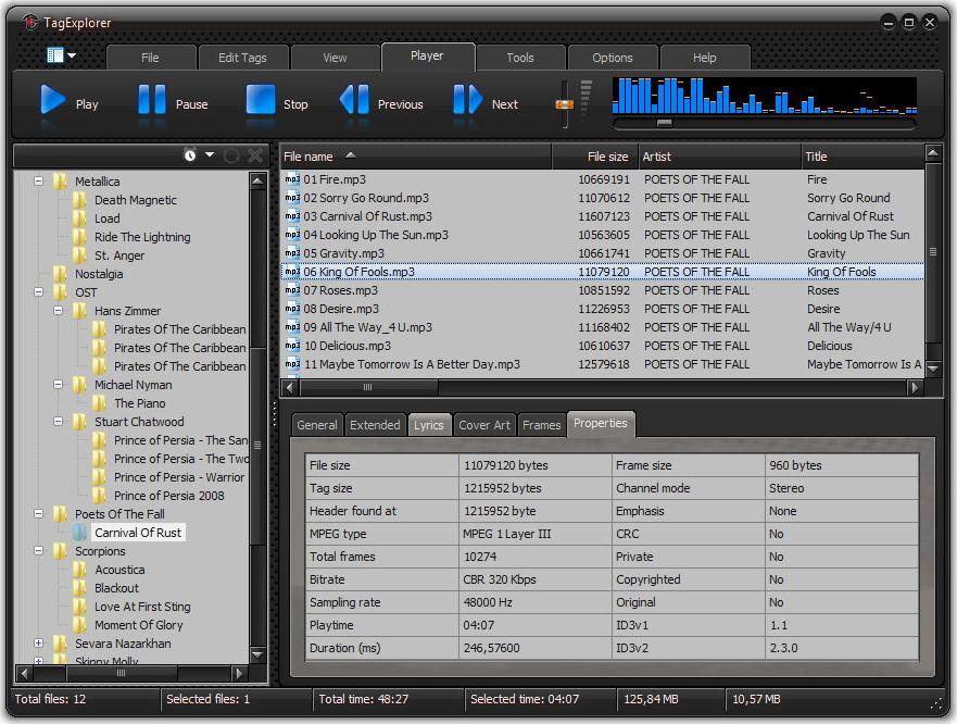 TagExplorer, Audio Software Screenshot