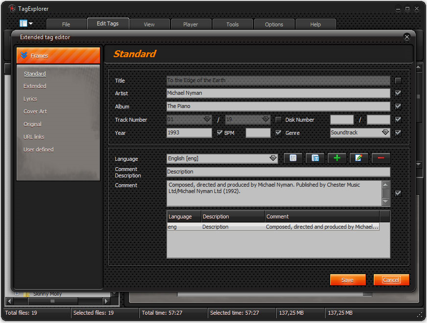 MP3 Tag Editing Software, TagExplorer Screenshot