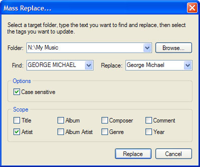 Audio Software, TagTuner (5 User License) Screenshot