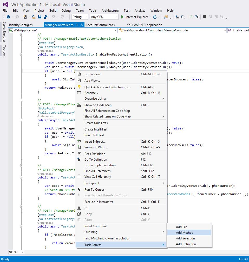Task Canvas, Code Editor Software Screenshot