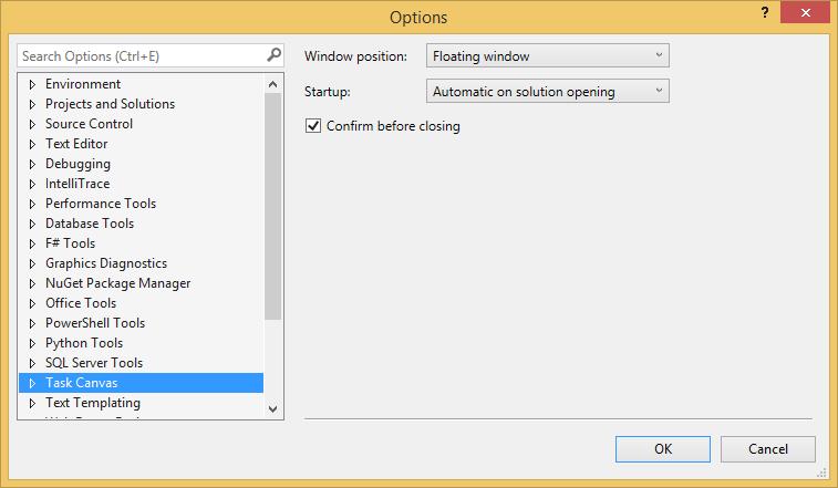 Development Software, Task Canvas Screenshot