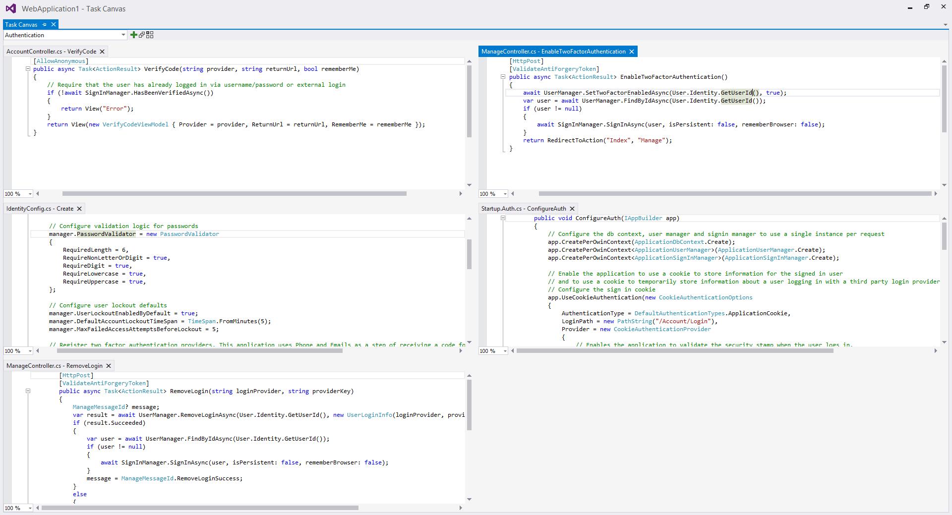 Code Editor Software, Task Canvas Screenshot