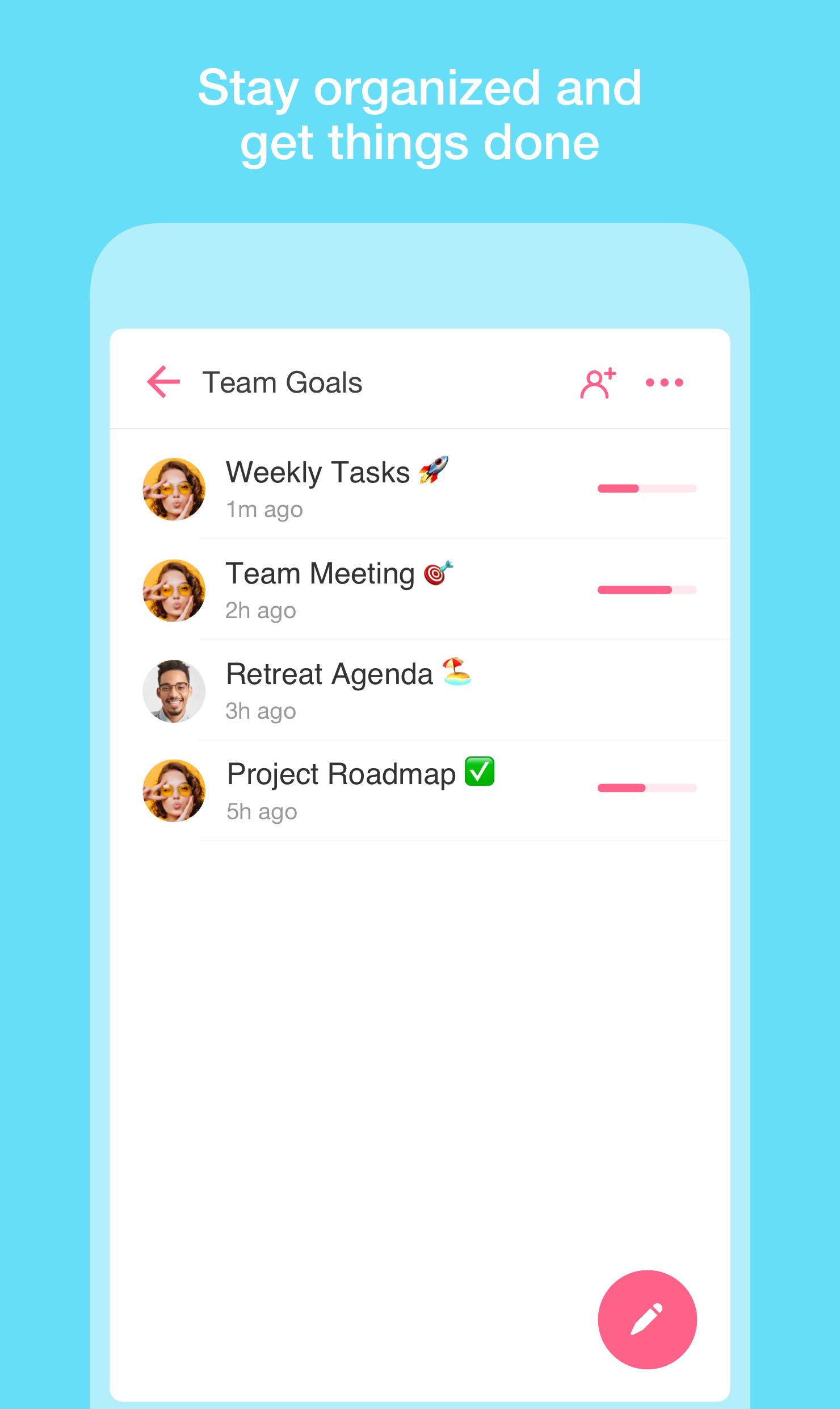 Productivity Software, Taskade - Create tasks, notes, and video chat, all on one page Screenshot