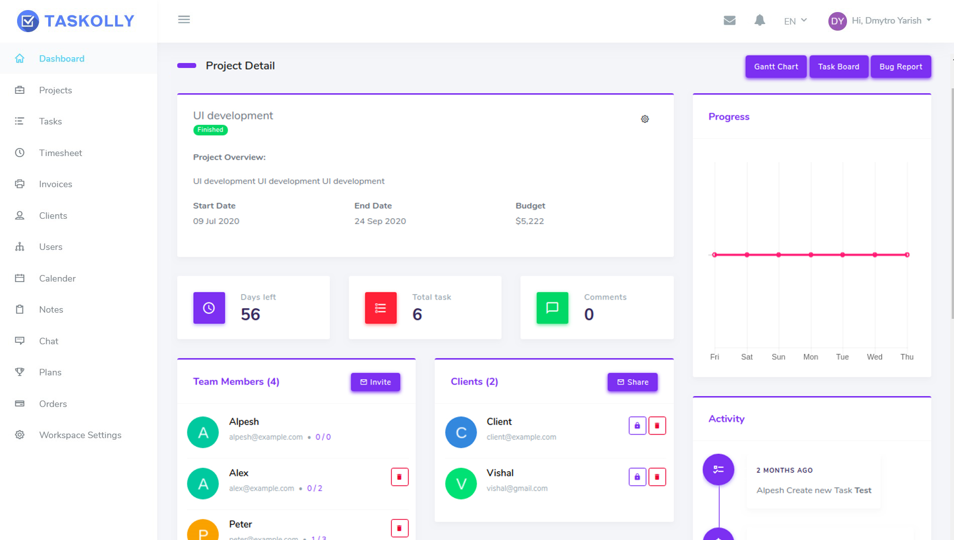 Taskolly Project Manager: Lifetime Subscription, Project Management Software Screenshot