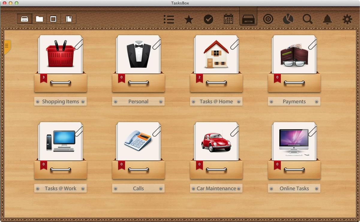 TasksBox, To-Do List Software Screenshot