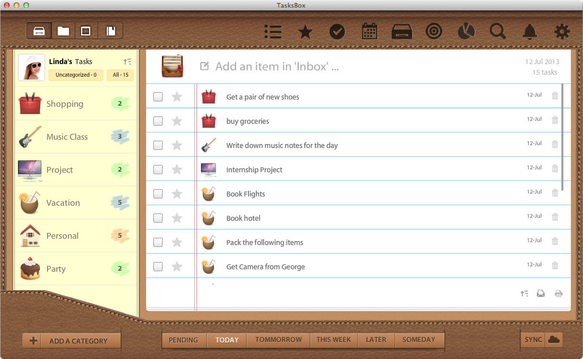 TasksBox Screenshot