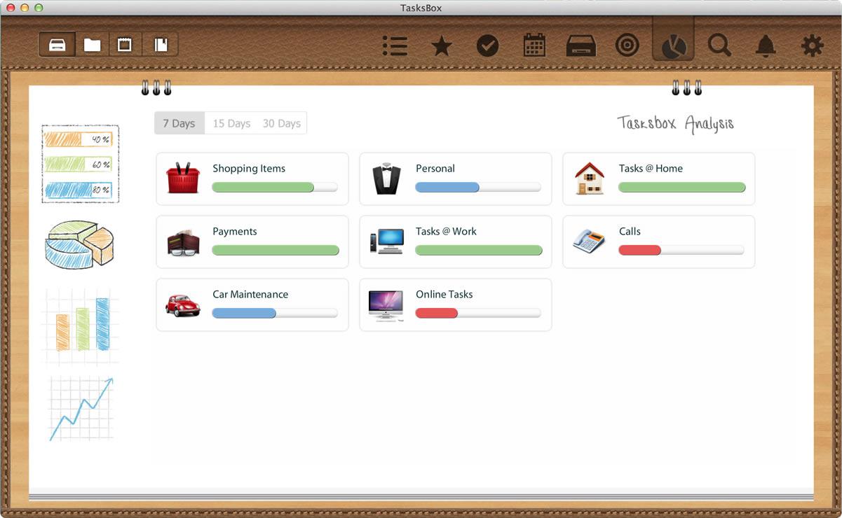 TasksBox, Productivity Software Screenshot