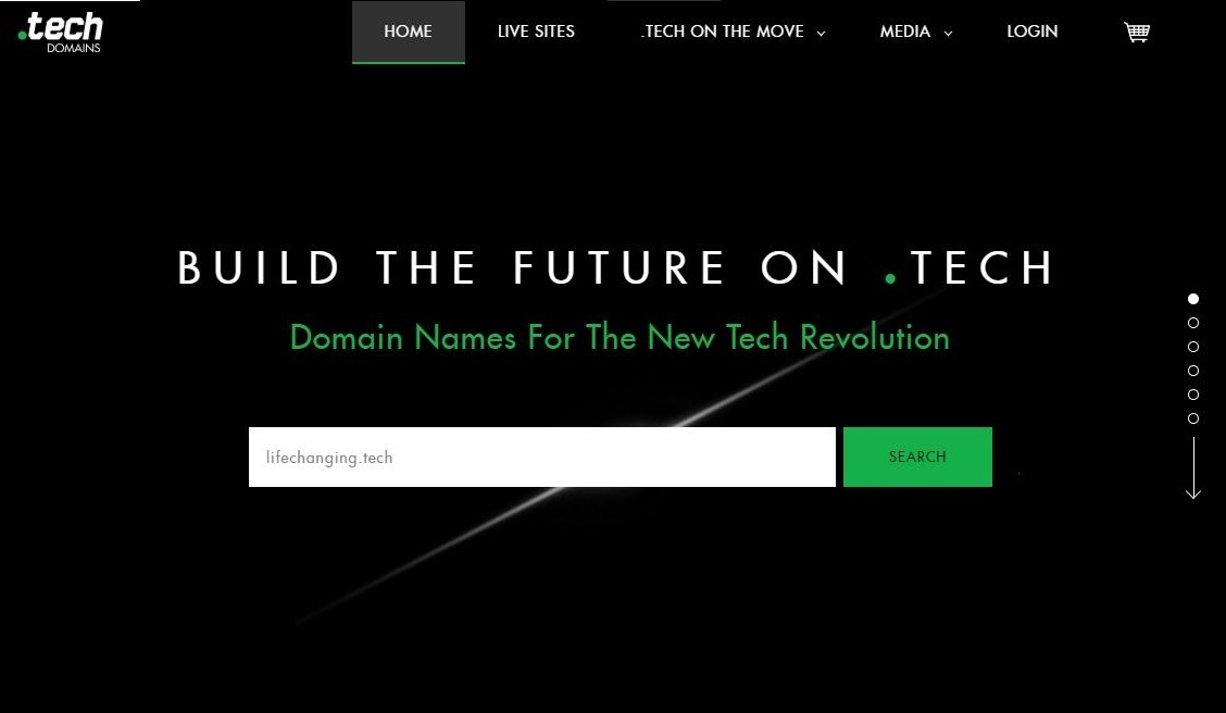 .Tech Domains Screenshot