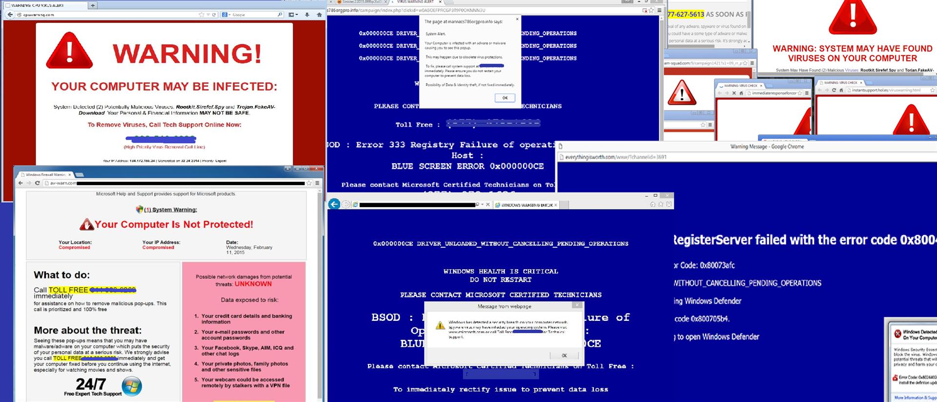 Tech Scam URL Blocker Screenshot