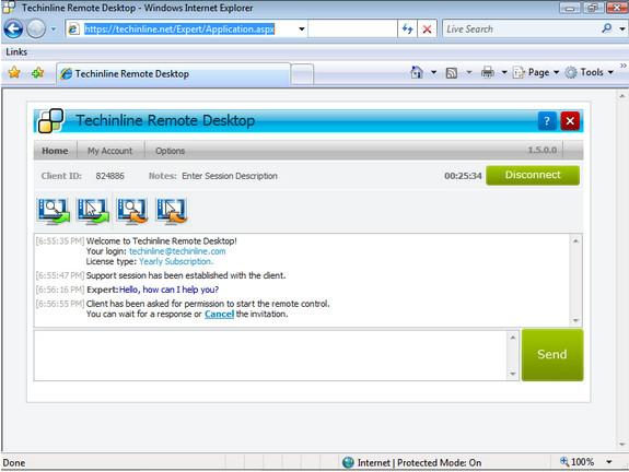 Techinline Remote Desktop Screenshot